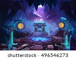 ancient chinese mystery cave... | Shutterstock . vector #496546273