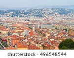 cityscape of nice from above ... | Shutterstock . vector #496548544