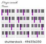 piano major seventh interval...   Shutterstock .eps vector #496556350