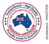 proudly made in australia.... | Shutterstock .eps vector #496557439