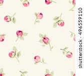 seamless pattern with pink... | Shutterstock .eps vector #496559110