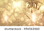 2017 new year shining banner... | Shutterstock .eps vector #496563460