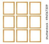 it is nine wooden frames... | Shutterstock . vector #496567309