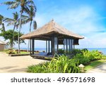 bungalows on the beach | Shutterstock . vector #496571698