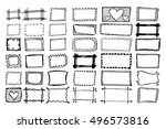 hand drawn rectangle frames set.... | Shutterstock .eps vector #496573816