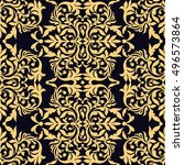 vector damask pattern design ... | Shutterstock .eps vector #496573864