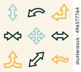 arrows mobile icon  next step... | Shutterstock .eps vector #496577764