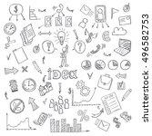 business doodles. illustration | Shutterstock . vector #496582753
