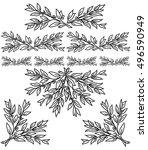laurel branch motif to frame or ...   Shutterstock .eps vector #496590949