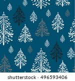 seamless pattern with christmas ... | Shutterstock .eps vector #496593406