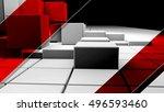white realistic plastic 3d... | Shutterstock . vector #496593460