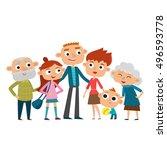 vector illustration of happy... | Shutterstock .eps vector #496593778
