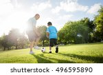 soccer football field father... | Shutterstock . vector #496595890