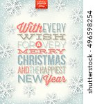 vector christmas illustration   ... | Shutterstock .eps vector #496598254