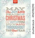 vector christmas illustration   ... | Shutterstock .eps vector #496598290
