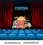 movie cinema premiere poster... | Shutterstock .eps vector #496599010