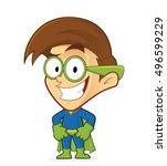 superhero nerd geek | Shutterstock .eps vector #496599229