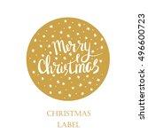 merry christmas   new year... | Shutterstock .eps vector #496600723