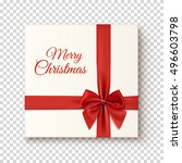 merry christmas greeting card... | Shutterstock .eps vector #496603798