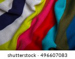 Knitted Multicolored Fabric....