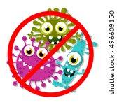germ  bacteria  virus  microbe  ... | Shutterstock .eps vector #496609150