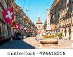street view on kramgasse with...   Shutterstock . vector #496618258