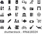 leisure black icons | Shutterstock .eps vector #496618324