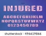 industrial style alphabet... | Shutterstock .eps vector #496619866