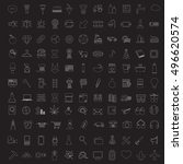 set of vector linear media...   Shutterstock .eps vector #496620574