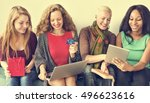 girls friendship togetherness... | Shutterstock . vector #496623616