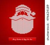 christmas knitted background... | Shutterstock .eps vector #496624189
