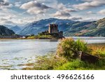 eilean donan castle  loch duid  ... | Shutterstock . vector #496626166
