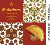 azerbaijan national pastry  ... | Shutterstock .eps vector #496630570