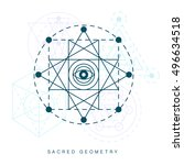 sacred geometry abstract sign ... | Shutterstock .eps vector #496634518
