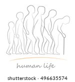 human life at different ages.... | Shutterstock .eps vector #496635574