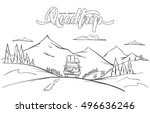 vector illustration  hand drawn ... | Shutterstock .eps vector #496636246