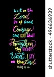 wait on the lord  be of good...   Shutterstock .eps vector #496636939