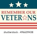 remember our veterans   Shutterstock .eps vector #496639438