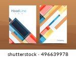 straight lines geometric... | Shutterstock .eps vector #496639978