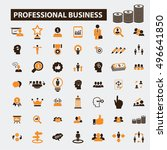 professional business icons  | Shutterstock .eps vector #496641850