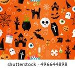 vector flat seamless texture... | Shutterstock .eps vector #496644898