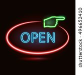 vector neon sign with type ... | Shutterstock .eps vector #496652410