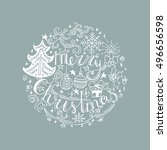 merry christmas  quote. great ... | Shutterstock .eps vector #496656598