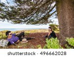 the couple on griffiths island... | Shutterstock . vector #496662028