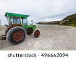the tractor on the cape... | Shutterstock . vector #496662094
