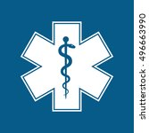 medical symbol of the emergency ... | Shutterstock . vector #496663990