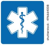 medical symbol of the emergency ... | Shutterstock . vector #496664008