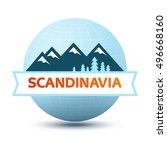 logo with scandinavian... | Shutterstock .eps vector #496668160