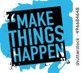 make things happen  ... | Shutterstock .eps vector #496684648