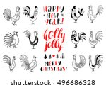 hand drawn background with... | Shutterstock .eps vector #496686328